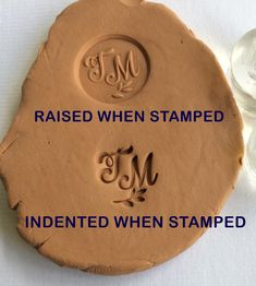 Custom Pottery Stamp, Pottery Signature Stamp, Personalized Clay Stamp, Ceramic Stamp engraved with your initials into clear Clay Stamps, Hand Built Pottery, Slab Pottery, Pottery Clay, Pottery Plates, Pottery Vase, Ceramic Techniques, Pottery Techniques, Signature Stamp