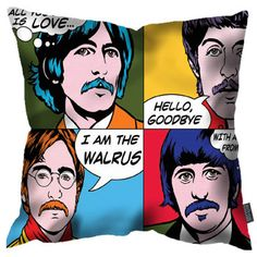 Pop art Beatles: Youngerman Fab Four cushions discounted at Achica