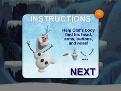 #Disney World #Frozen Games #Olaf