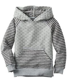 Hipster hoodies, a spring layering essential. Toddler Outfits, Baby Boy Outfits, Kids Outfits, Striped Quilt, Boys Wear, Kids Fashion Boy, Heather Gray, Sweat Shirt, Men's T Shirts