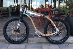 Rocsie Café Racer is the World's First Wooden e-Bike