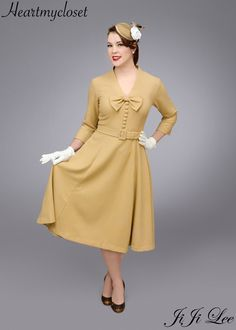 SELENA rockabilly vintage inspired dress 50s custom made