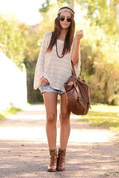 Sommerlicher Street-Style im Hippie-Look