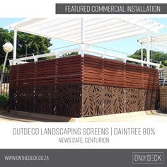 We supply the OUTDECO range of outdoor privacy screens. OUTDECO screens allow you to create beautiful, private spaces in your outside living area. Outdoor Screens, Privacy Screen Outdoor, Garden Screening, Outside Living, Composite Decking, Outdoor Landscaping, Cladding, Living Area, Pergola