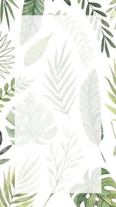 Plant Wallpaper, Framed Wallpaper, Flower Background Wallpaper, Watercolor Wallpaper, Pastel Wallpaper, Flower Backgrounds, Wallpaper Backgrounds, Iphone Wallpaper, Cellphone Wallpaper