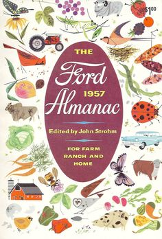 The Ford 1957 Almanac, illustrations by Charley Harper (from Mid-Century Modern Graphic Design)