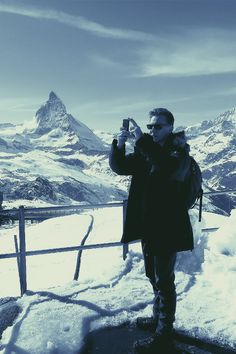 ❅FrenchFrostPudding❅ — … Tom Hiddleston in front of the Matterhorn… It's...