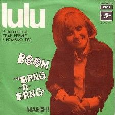 "Lulu - ""Boom-Bang-A-Bang"", one of the winning songs of the Eurovision Song Contest 1969 for the United Kingdom"