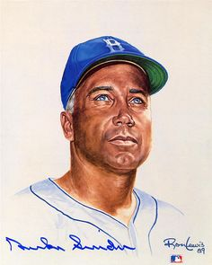 "Duke Snider ""The Duke of Flatbush"" by artist Ron Lewis"