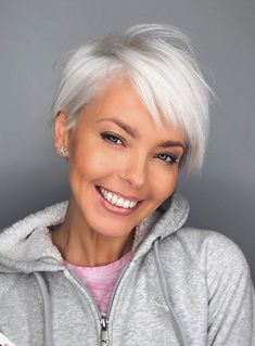 Today we have the most stylish 86 Cute Short Pixie Haircuts. We claim that you have never seen such elegant and eye-catching short hairstyles before. Pixie haircut, of course, offers a lot of options for the hair of the ladies'… Continue Reading → Stylish Haircuts, Thin Hair Haircuts, Short Pixie Haircuts, Hairstyles Over 50, Short Hairstyles For Women, Hairstyles Haircuts, Short Hair Cuts, Cool Hairstyles, Short Hair Styles