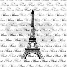 Paris Eiffel Tower In Black Shower Curtain