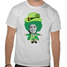 #Irish St Patricks Day Jig, Photo Framed Head #Tshirts from #Ricaso