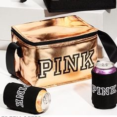 f87d16a7fd My Victoria's Secret Pink Rose gold cooler and Coozie by Pink. Size for  $$25.00