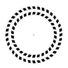 AGRUPACIÓN: continuidad. Los detalles de la imagen y el patrón continuo que éstos forman se puede percibir la figura de dos círculos, uno grande y otro más pequeño y que su contorno es interrumpido.