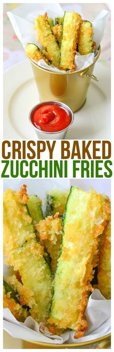 These zucchini fries baked to perfection are one o…