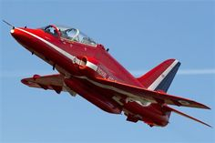 Red Arrows Bae Hawk T1 trainer XX227 at RAF Scampton for Families Day.