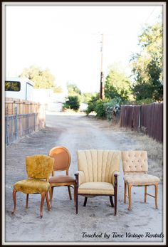 chairs...Touched by Time Vintage Rentals https://www.facebook.com/TouchedByTimeVintageRentals?ref=hl