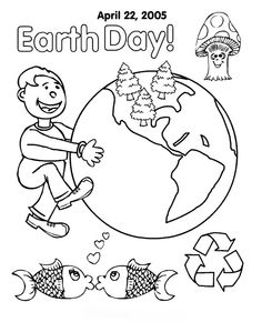 earth day coloring activity pages