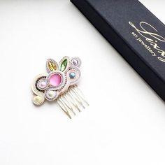Soutache Jewelry, Handmade Jewellery, Beadwork, Brooches, Gemstone Rings, Beads, Hair, Hair Combs, Bangs