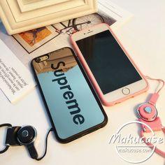 supreme iphoneケース 鏡面 シュプリーム iphone8 iphone8plusケース ネックストラップ付き iphone7 iphone7plusケース ペア カップル用 ブランド シュプリーム アイフォン6sケース お洒落 iphone6s plusケース