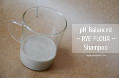 "Next Gen ""no-poo"" method with better pH balance. Rye flour shampoo by Sonya Kanelstrand"
