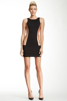 BCBGeneration Metallic Side Insert Dress by BCBGeneration on @nordstrom_rack