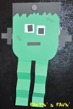 Halloween Kid's craft. Frankenstein art project for kids!