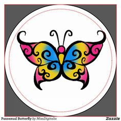 cute pansexual butterfly