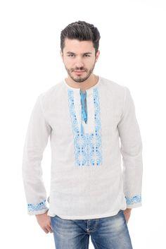 Camasa stilizata pentru barbati!  #romanianblouse #streetfashion #folk