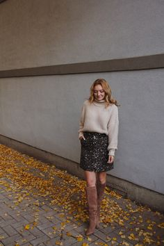 leopard skirt love - The Couture Complex Neutral Tops, Sam Edelman Boots, Leopard Skirt, Sequin Skirt, Nordstrom, Couture, Skirts, Sweaters, Blog