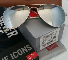 3584ced68eeb Authentic Ray-Ban Aviator Silver Lens / Silver Frame Sunglasses