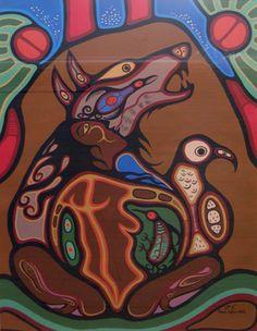 Untitled Woodland Indians, Woodland Art, Native Canadian, Canadian Art, Native American Fashion, Native American Art, Woodlands School, Modern Indian Art, Indigenous Art