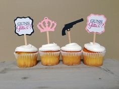 Hey, I found this really awesome Etsy listing at https://www.etsy.com/listing/188929247/guns-or-glitter-gender-reveal-baby