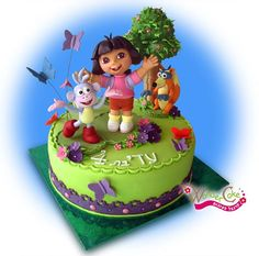 the best cake artist Dora Birthday Cake, Dora Cake, Birthday Fun, Cupcakes, Cupcake Cakes, Beautiful Cakes, Amazing Cakes, Diego Cake, Bolo Fack