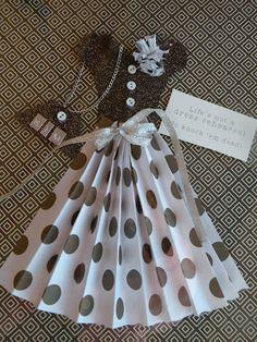 Paper dress card ideas