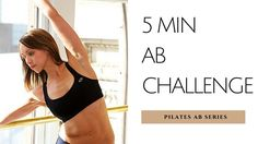 5 Min Ab Challenge | Pilates Ab Series Workout with Tamara Newell