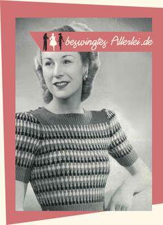 Ein Blog über Swing, Mode der 50er Jahre, Mode der 40er Jahre, Rockabilly, Schneidern, Vintage, Nähen und Stricken!