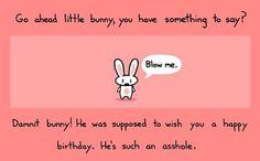 Happy Birthday Bunny - Funny Happy Birthday Quote