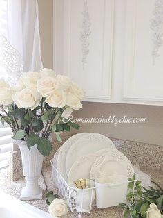 romantic shabby white | ... .COM~ Romantic Shabby Chic Kitchen ~ Romantic White Kitchen
