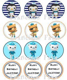 Octonauts Party Cupcake Toppers - DIY via Etsy.