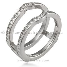 """engagement wring """"wraps"""" - intriguing idea for asymmetrical engagement rings  http://www.krikawa.com/unique-wedding-bands/womens-wedding-bands/engagement-ring-wraps"""