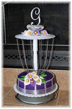 Disc Golf Wedding Cake