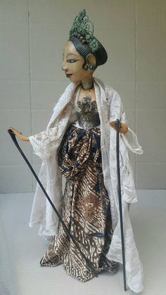 Antique Wayang Gambyong from  Bali Puppet Factory in Indonesia