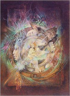 Life's Companion, by Susan Seddon Boulet  http://annebhd.free.fr/ssb/shamans.htm#lion