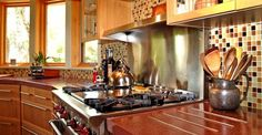 Kitchen Stove Architectural Details Flowstone Concrete Studio Sacramento, CA