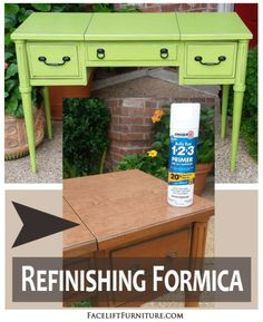 Refinishing Formica Furniture With Paint, Glaze U0026 Distressing