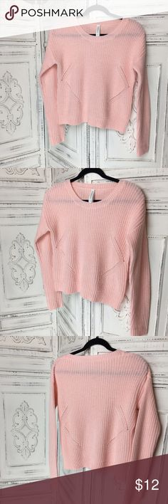 Aeropostale Cotton Candy Pink Sweater Super cute lightweight pink sweater. Great for layering and for spring.                                                                        * shoulder to hem 21.5in.                                                          * armpit to armpit 21in. Aeropostale Sweaters Crew & Scoop Necks