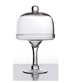 Glass Cake Dome with Glass Base – Allissias Attic & Vintage French Style