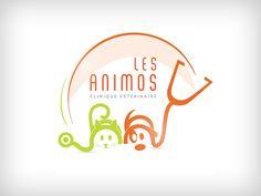 """Logotype - Une relation de confiance, de la bonne entente jusqu'à l'amitié avec certains clients, voilà l'ambiance générale au sein de la clinique vétérinaire """"Les animos"""".#logo #vétérinaire"""