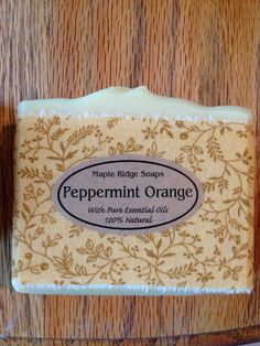Peppermint Orange soap from Maple Ridge Soaps Pure Essential, Organic Oil, Handmade Soaps, Peppermint, Favorite Things, Fragrance, Pure Products, Orange, Natural